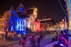 Boekarest - Calea Victoriei Royalty-vrije Stock Afbeeldingen
