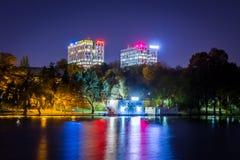 Boekarest door de lens van een ontdekkingsreiziger wordt gezien die royalty-vrije stock afbeeldingen