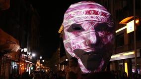 Boekarest, festival van lichten 2018 stock footage