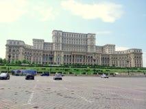 Boekarest - het paleis van het Parlement stock foto's
