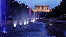 Boekarest, het Roemeense Parlement Stock Foto