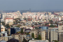 Boekarest - luchtmening Stock Fotografie