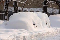 BOEKAREST ROEMENIË - 14 Februari: De anomalieën van het weer Stock Foto's