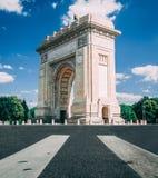 Boekarest, Roemenië, Augustus 2018: Arcul DE Triumf stock foto
