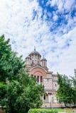 BOEKAREST, ROEMENIË - AUGUSTUS 30: De St Elefterie Kerk op 30 AUGUSTUS, 2015 in Boekarest, Roemenië Het wordt gevestigd in 1 Heil Royalty-vrije Stock Foto