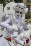 Boekarest, Roemenië - Juni 1, 2014: Stelt het Franse bedrijf van Mademoisellepaillette ` voor het SPEELGOED ` toont Stock Afbeeldingen