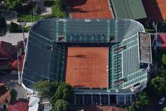 Boekarest, Roemenië, 15 Mei, 2016: Luchtmening van Arenele BNR complex van tennis in Boekarest stock foto's