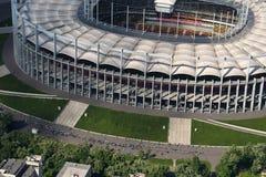 Boekarest, Roemenië, 15 Mei, 2016: Luchtmening van de Nationale Arena van Boekarest royalty-vrije stock fotografie