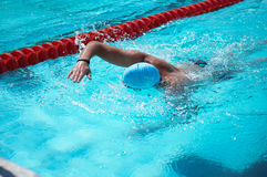 Boekarest, Roemenië, 2013: niet geïdentificeerde zwemmer tijdens swimatonbucuresti 2013 Royalty-vrije Stock Foto's
