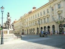 Boekarest tegen dag Royalty-vrije Stock Afbeelding