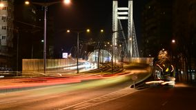 Boekarest timelapse, de Passage van Roemenië - Basarab- stock videobeelden