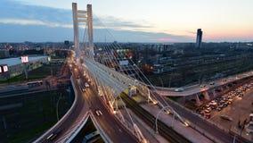 Boekarest timelapse - Snel Verkeer stock video