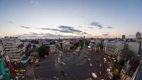 Boekarest timelapse - Snel Verkeer stock footage