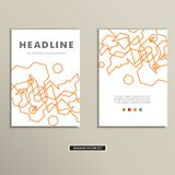 Boekdekking met abstracte lineaire kringen eps royalty-vrije illustratie