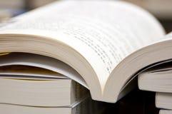 Boeken in Bibliotheek Stock Afbeeldingen
