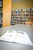 Boeken bij Bibliotheek Royalty-vrije Stock Foto's