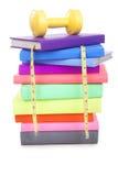Boeken bij het Losmaken van Gewicht Stock Afbeeldingen