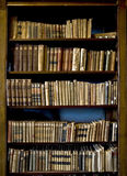 Boeken in de bibliotheek Royalty-vrije Stock Foto's