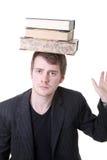 Boeken die lerende student in evenwicht brengen royalty-vrije stock afbeeldingen