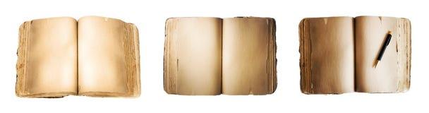 Boeken die op wit worden geïsoleerd Stock Foto