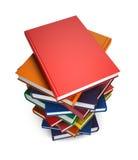 Boeken die op witte achtergrond worden geïsoleerd? Stock Fotografie