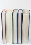 Boeken die zich verticaal bevinden Stock Afbeelding