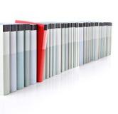 Boeken in een rij Royalty-vrije Stock Fotografie