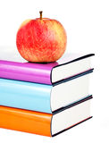 Boeken en appel Royalty-vrije Stock Fotografie