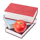 Boeken en Apple Stock Foto