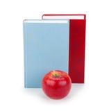 Boeken en Apple Stock Foto
