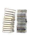 Boeken en CD Stock Afbeeldingen