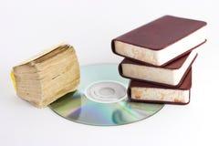Boeken en CD royalty-vrije stock afbeeldingen