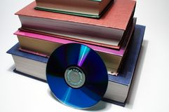 Boeken en CD Royalty-vrije Stock Afbeelding