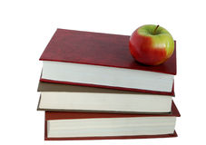 Boeken en een appel Royalty-vrije Stock Foto