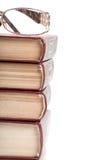 Boeken en glazen Royalty-vrije Stock Foto