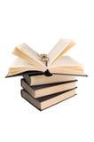 Boeken en glazen Royalty-vrije Stock Foto's