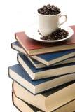Boeken en koffie Royalty-vrije Stock Foto