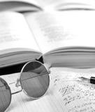 Boeken en volumes over de lijst Stock Afbeelding