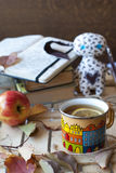 Boeken en warme atmosfeer Royalty-vrije Stock Fotografie