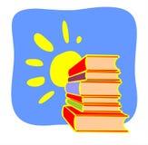 Boeken en zon Royalty-vrije Stock Afbeelding