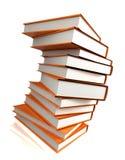 Boeken massief op wit Royalty-vrije Stock Fotografie
