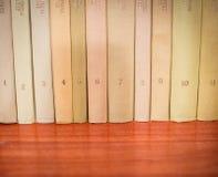 Boeken met aantallen Stock Foto