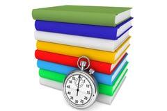 Boeken met Chronometer Royalty-vrije Stock Afbeeldingen
