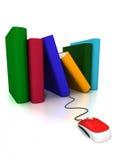 Boeken online Stock Foto