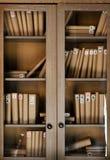 Boeken op de plank stock foto's