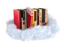 Boeken op een wolk stock illustratie
