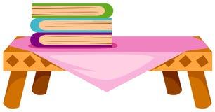 Boeken op lijst royalty-vrije illustratie