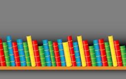 Boeken op Plank stock illustratie
