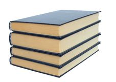 Boeken op Witte Achtergrond Stock Foto's
