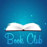 Boekenclub Lezingsclub Open boek met mysticus helder licht Vector illustratie vector illustratie